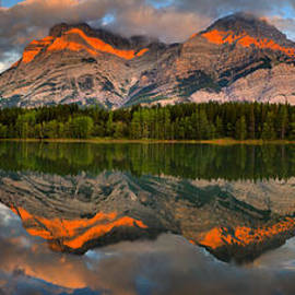 Kananaskis Sunrise Reflection Panorama by Adam Jewell