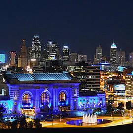 Kansas City Union Station in Blue Panorama by Catherine Sherman