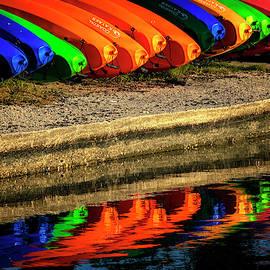 Kayak Reflections by Tom Singleton