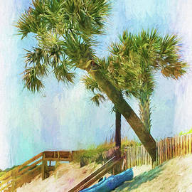 Kayak Siesta On Isle Of Palms by Sharon McConnell