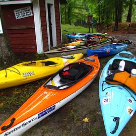 Kayaks at the Landing  by Matt Richardson