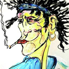 Keith Richards Caricature by Debora Lewis