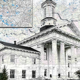 Kentucky Travel Map Richmond by Sharon Popek