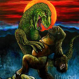 King Kong vs Tyrannosaurus Rex by Jose Mendez