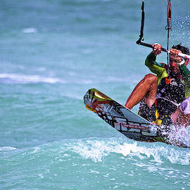 Kite surfing Miami Beach, Florida by Mr Bennett Kent