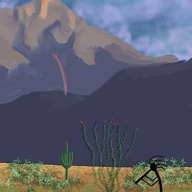 Kokopelli And Mount Wrightson by Chance Kafka