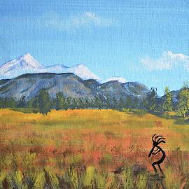 Kokopelli And The San Francisco Peaks by Chance Kafka