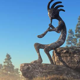 Kokopelli Statue by Daniel Eskridge