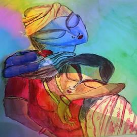 Krishna Radha2 by Nilu Mishra