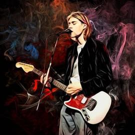 Kurt Cobain Action Series Portrait by Scott Wallace Digital Designs