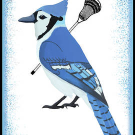 Lacrosse Blue Jay by College Mascot Designs