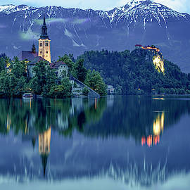 Lake Bled Reflections by Lindley Johnson