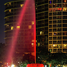 Lake Eola Fountain Lightshow by Stefan Mazzola