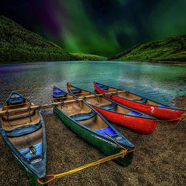 lake Geirionydd Canoes by Adrian Evans