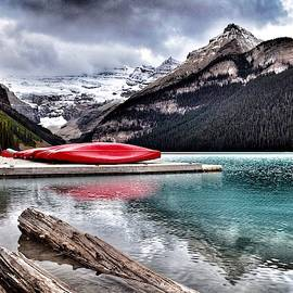 Lake Louise Canoes by Dana Hardy