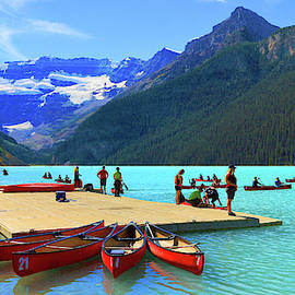 Lake Louise In Alberta Canada by Ola Allen