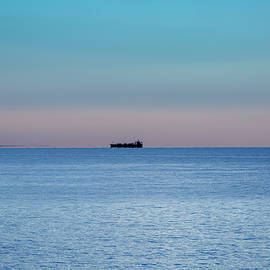 Lake Ontario Frieghter by Jack R Perry