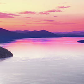 Lake Pend Oreille Panoramic by Leland D Howard