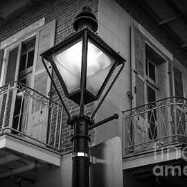Lamplight in French Quarter NOLA by Kathleen K Parker