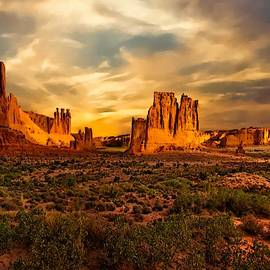Landscape Scene In Arches National Park L A S by Gert J Rheeders