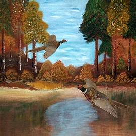Landscape with Pheasants by Joe Eagleman