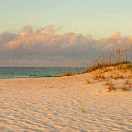 Langdon Beach Sunrise 9 Panorama - Pensacola Beach Florida by Brian Harig
