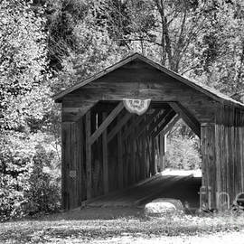 Langdon New Hampshire Covered Bridge Black And White by Adam Jewell