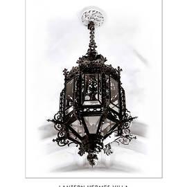 Lantern Hermes Villa - Vienna Austria - Travel Poster by Menega Sabidussi