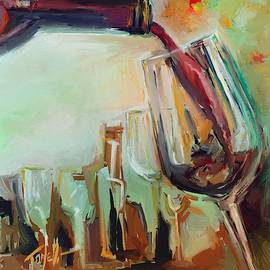 Bottle of red Large pour by Mark Tonelli