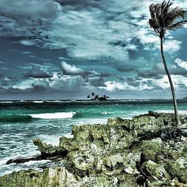 Las Galeras Angry Sea by Norma Brandsberg