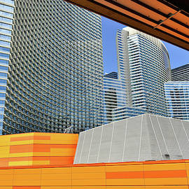 Las Vegas Architectural Lines Monorail View 01 by Thomas Woolworth