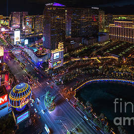 Las Vegas Photography Night Strip by Mike Reid