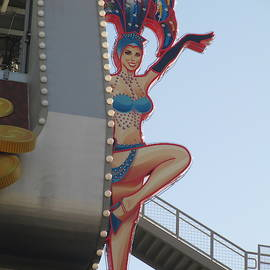 Las Vegas Show Girl Sign by Kay Novy