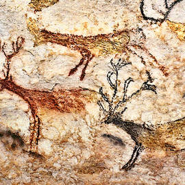 Lascaux - Three Deer by Weston Westmoreland