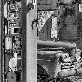 Last Chance For Gas Black And White by JC Findley