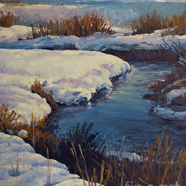 Last Grip of Winter on Mud Creek by Rob Corsetti