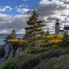 Late Autumn Light at West Quoddy Head Lighthouse by Marty Saccone