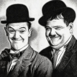 Laurel And Hardy  by Doc Braham