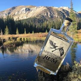 Shea Eden - Leadslingers Black Flag Rum while trout fishing