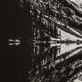 Left Panel 1 Of 3 - Panoramic Maroon Bells Sepia Mountain Landscape by Gregory Ballos