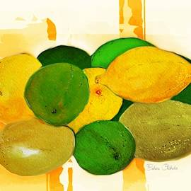 Lemons And Limes Abstract by Barbara Chichester