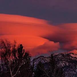 Lenticular Cloud Sunset by Webb Canepa