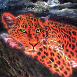 Leopard by Moonlight by Michael Durst
