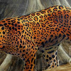 Leopard stalking by Pechez Sepehri