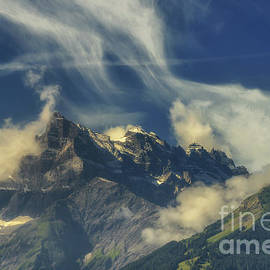 Les Dents du Midi mountain by Michelle Meenawong