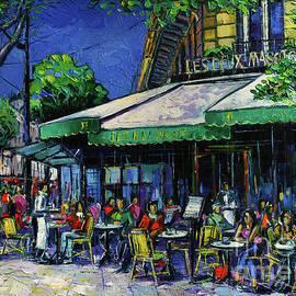 Les Deux Magots Paris by Mona Edulesco