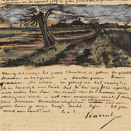 Vincent van Gogh - Letter from Vincent van Gogh to Theo van Gogh with sketch of Pollard Willow