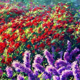Purple Liatrus with BeeBom by Rick Hansen