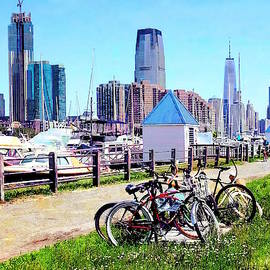 Liberty State Park - Parked Bicycles by Susan Savad