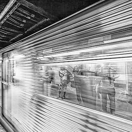 Life Speeds By in Black and White by Kay Brewer